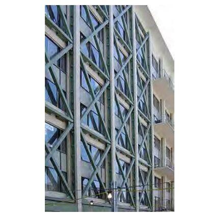 مقاوم سازی قاب بتنی ساختمان با بادبند فلزی و فولادی