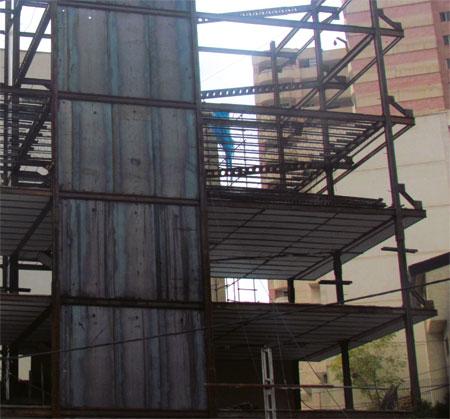 مقاوم سازی ساختمان با دیوار برشی